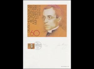 1220 Katholikentag 1984, Papst Pius XII., Entwurf: Aretz, original signiert