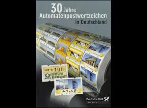 Gedenkset: 30 Jahre Automatenpostwertzeichen (ATM) in Deutschland, Marken **/SSt