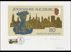 1234 Augsburg 2000 Jahre, Entwurf: Vollbracht, original signiert