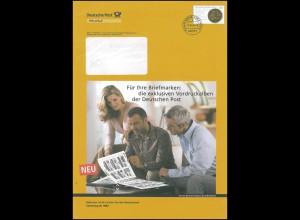 Plusbrief F167 Goldene Bulle: Vodruckalben der Deutschen Post, 16.10.06