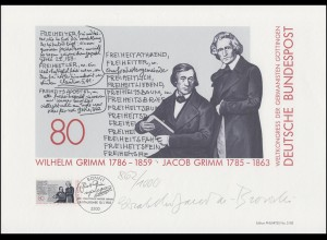 1236 Brüder Grimm, Germanistenkongress, Entwurf: Janota-Bzowski, orig. signiert