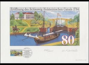 1223 Schleswig-Holsteinischer Canal, Entwurf: Seiter, original signiert