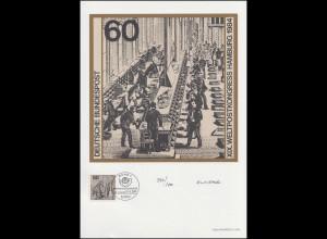 1215 Weltpostkongress UPU Hamburg 1984, Entwurf: Nitsche, original signiert