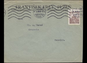 Böhmen und Mähren 41 Landschaften Brünn / Brno EF Brief PRAG / PRAHA 31 - 8.7.40
