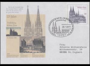 USo 104 Kölner Dom, SSt Berlin Ausgabe 2-Euro-Gedenkmünze Kölner Dom 28.1.2011