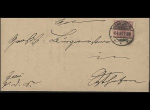 Adler 10 Pf. EF Brief Dienstsache EF Gernsheim 4.4.91