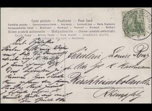 AK Im Biergarten HEILBRONN NECKAR Nr. 1 - 24.8.1905 nach KIRCHHEIMBOLANDEN 25.8.
