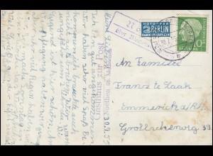 Landpost Noethen über MECHERNICH (EIFEL) 30.5.55 auf AK Gasthaus zur Post
