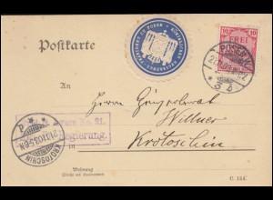 Frankreich Kartenbrierf K 33 Säerin 10 C rot MONTDIDIER 19.9.1908 in die Schweiz