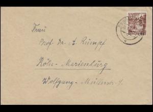 Rheinland-Pfalz 23 Winzerhäuser St. Martin EF Brief BENSDORF (RHEIN) 26.1.49