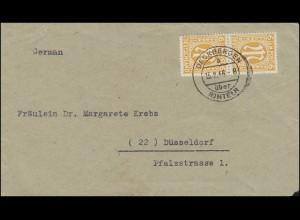 AM-Post 6 Pf. MeF auf Briefvordereite DECKBERGEN über RINTELN 13.2.1946