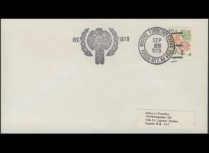 USA: Blumen, Brief, SSt Briefmarkenausstellung MIDAPHIL Kansas