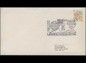 USA: Blumen, Brief mit SSt YAKIMEX'79 Washington