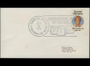 USA: Olympiade - Briefmarkenausstellung CINPEX 1979 auf Schmuck-Umschlag SSt