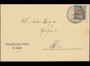 Portofreiheitsmarke 3I Alpenrose auf DS Samariterinnenverein St. GALLEN 19.10.16