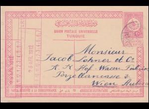 Türkei Postkarte P 37 Tughra-Zeichnung ANDRINOPLE 25.4.1912 nach Wien 26.4.12