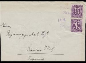 Landpost Georgsmarienhütte (Kr. Osnabrück) / 17.12., Briefvorderseite AM-Post