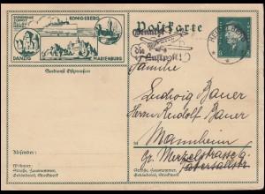 56 Germania Reichspost als EF R-Brief Deutscher Sport-Verein BERLIN 29.4.1901