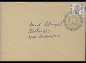 Belgien: Brief mit Sonderstempel Junge mit Luftballon Geraardsbergen 15.12.1979