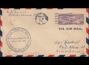 Sonderflug Visit of rear Admiral Richard E. Byrd Winston-Salem 13.3.1931