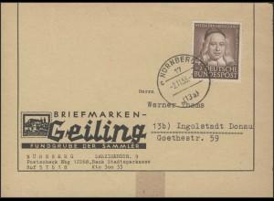 174 Wofa 4 Pf: Briefvorderseite mit Ersttagstempel