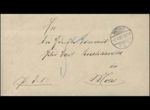 Benachrichtigung Grundbuch Amtsgericht Mörs 7.4.1897