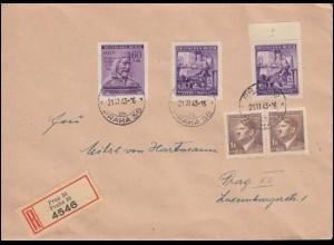 Niederländisch-Indien Umschlag König Wilhelm III. 25 C. violett, ungebraucht **