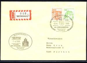 BuS 300+50 Letterset je Nr. MiF R-Bf. SSt Bückeburg