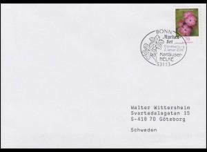 2716 Blumen: Kartäusernelke, selbstklebend, FDC Erstverwendung Bonn 2.1.2009