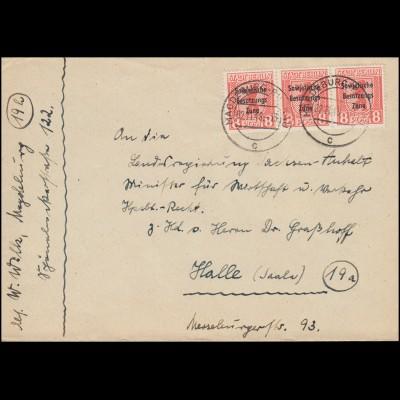 404 C/D-Paar Unfall MiF Brief BERLIN 1976 mit weißer Strich-Codierung nach Bonn
