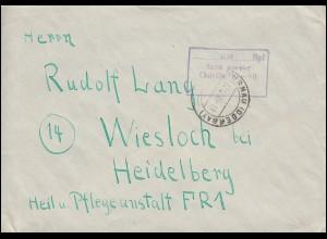 Gebühr-bezahlt-Stempel als R3 Brief MURNAU (OBERBAY.) 27.12.47 nach Heidelberg