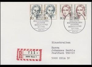 Ch. Teusch Politikerin & Clara Schumann Pianistin, R-FDC-PK ESSt Bonn 13.11.1986