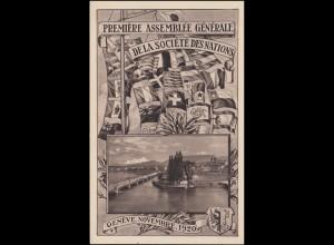 Schweiz AK 1. Generalversammlung des Völkerbundes Genf 1920 - Nr. 1, ungebraucht