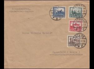 Bayern Dienstmarken Brief Landgericht MÜNCHEN-JUSTIZPALAST 30.1.20 INFLA-geprüft