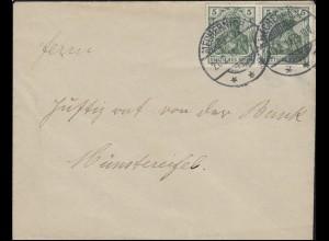 Germania 5 Pf. MeF Brief von MECHERNICH 20.2.11 nach Münstereifel