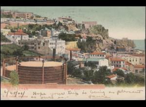 Gibraltar Ansichtskarte Gas Works, in die USA PEORIA ILL. 23.7.1906