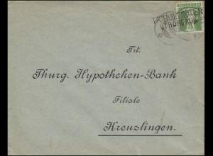 Schweiz Poststelle TRIBOLTINGEN (THURGAU) Brief Tellknabe TÄGERWEILEN 23.12.09