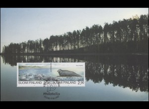 Finnland Exhibition Card 95 Naturschutz-ZD Köln 20.-22.10.95 / Helsinki 24.10.95