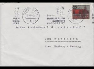 Bundes-Hausfrauen-Ausstellung Hannover 4.-13.9.1964, EF Brief Hannover 17.8.64