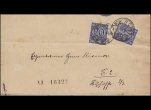 Dienst 26 Ziffer als MeF portogerechter Orts-Bf. Gerichtskasse BERLIN 21.1.1921