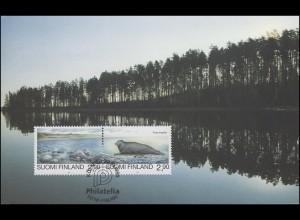 Finnland Exhibition Card 95 Köln 20.-22.10. / Helsinki 24.10.95 Naturschutz-ZD