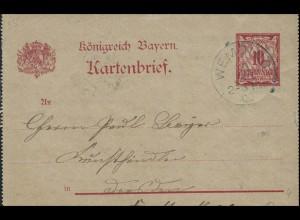 Bayern Kartenbrief WEMDING 19.1.00 nach DRESDEN-ALTSTADT 10 - 20.1.00