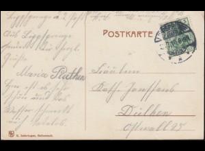 78 Prinzregent Luitpold 10 Pf. MeF Brief WÜRZBURG 28.10.1911 nach UTRECHT / NL