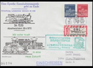 Gebühr-bezahlt-Stempel und AM-Post 12 Pf auf Briefvorderseite BAD AIBLING 7.3.46