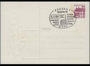 Bayern Postkarte Wappen 10 Pf. MUENCHEN 20.11.94 n. UTRECHT 21.11./Stempel C 28