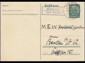 Bayern Postkarte Wappen 5 Pf LUDWIGSHAFEN 24.2.80 nach Rheinberg