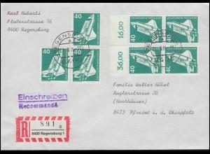 Niederländisch-Indien Umschlag Königin 10 auf 20 Cent blau, ungebraucht **