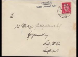 Bayern Brief FRANKENTHAL 9.8.99 nach NÜRNBERG 10.8.99 & Kreisnummer 12