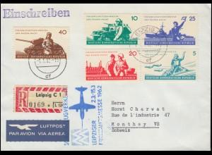 Landpost Bödefeld über BESTWIG 20.1.46, Briefvorderseite mit AM-Post-Frankatur