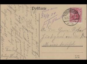 145II Germania EF Postkarte von TROISDORF a - 10.8.21 nach Münstereifel